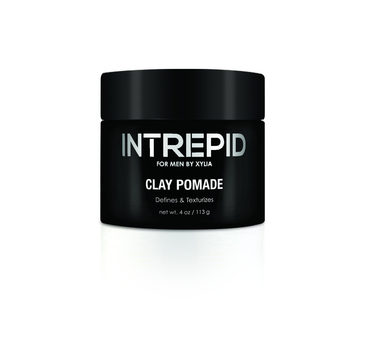 New! Intrepid for Men Clay Pomade 4 oz.~ Matte Medium Hold Add Volume and style with out the slick Shiny look of Hair Gel ~ Texturizes and styles with Natural looking Results