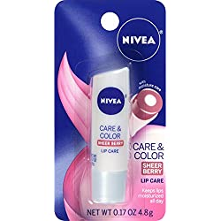 NIVEA Care & Color Sheer Berry Lip Care 0.17 Ounce Carded Pack (Pack of 6)