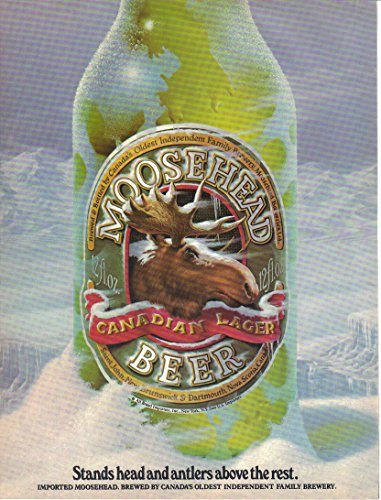Magazine Print Ad: 1983 Moosehead Beer Canadian Lager,