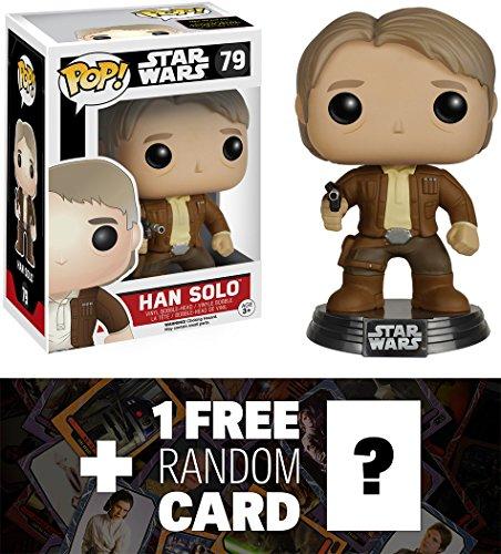 Han Solo: Funko POP! x Star Wars Vinyl Bobble-Head Figure w/ Stand + 1 FREE Official Star Wars Trading Card Bundle [65843]