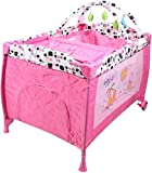 Golden Toys Baby Bed and Playard, Pink, 55114