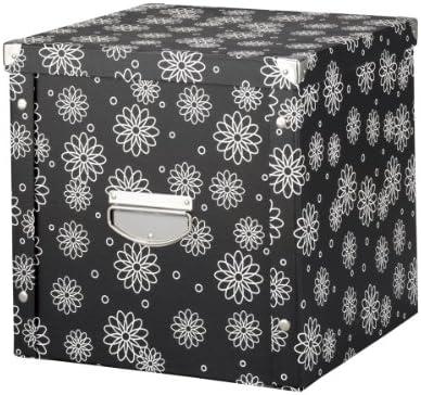 Zeller 17885 - Caja de cartón para almacenaje (36 x 36 x 35 cm), Color Negro: Amazon.es: Hogar