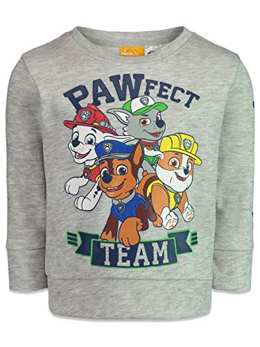 Paw Patrol Shirts (Nickelodeon Paw Patrol Toddler Boys Fleece Shirt Pullover Top Gray)
