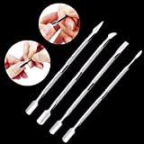 Tacoli- Cuticle Remover Kit- Nail Tools Cuticle- 4 Type Stainless Steel Metal Cuticle Pusher Trimmer Remover Double Sided Finger Dead Skin Nail Art Manicure Pedicure Care Tool