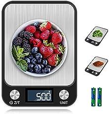 otumixx Báscula de Cocina Digital,10kg/1g, Balanza Cocina Alta Precisión Balanza de Alimentos de Acero Inoxidable con...
