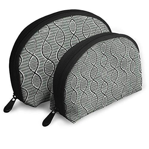 Double Helix DNA Portable Bags Clutch Pouch Storage Bag Coin Purse Travel Bag Handbag Women's Bag One Big One Small Cosmetic - Clutch Helix