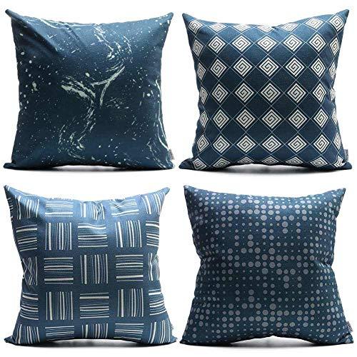 Throw PillowsCoversDeep BlueSet of 4, 18