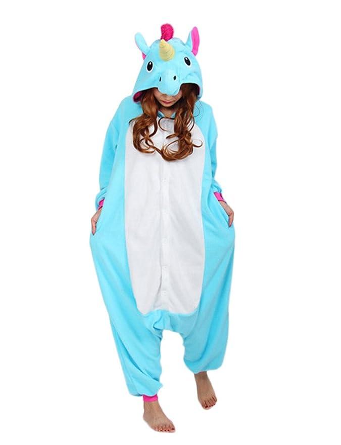 Amazon.com: Engerla Anime Blue Unicorn Cosplay Kigurumi Homewear Sleepwear: Clothing
