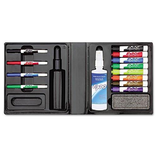 EXPO - Dry Erase Marker/Eraser/Cleaner, Chisel/Fine, Assorted, 12/Set - Sold As 1 Set