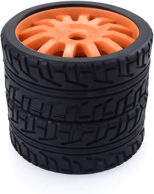 On-Road Car Arancione Fanuse 4PCS 1//8 RC Ruote in Gomma per Auto Ruote in Plastica per Redcat Team Losi VRX HPI Kyosho HSP Carson Hobao 1//8 Buggy