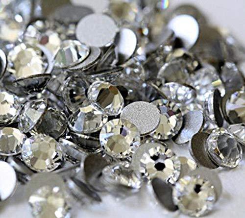 Raflesa Clear - Crystal Glass Rhinestones Flatback High Quality no hotfix Size SS6 SS10 SS12 SS16 SS20 SS30 Wholesale Pack Lot(Ss10 1440 Pieces) from Raflesa