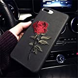 TraveT Embroidery Phone Case Rose Flower Case for iphone6, iphone7
