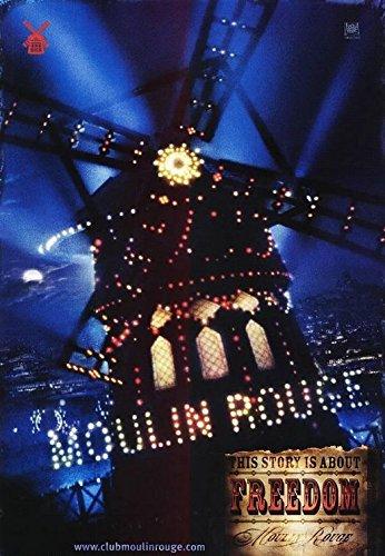 Moulin Rouge! Nicole Kidman Ewan McGregor Original Single Sided Rolled 27x40 Movie Poster 2001 - B