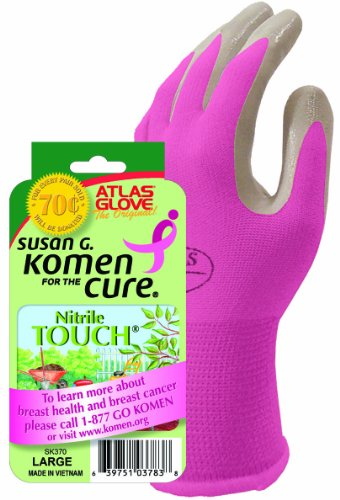 Atlas Nitrile Touch Susaan Komen Gloves-Large