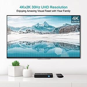 TICTID [2GB/16GB EMMC] AX9 MAX Android 7.1 TV box 4K TV Box Amlogic Quad Core A53 Processor 64 Bits 2.4G WIFI Smart TV Box