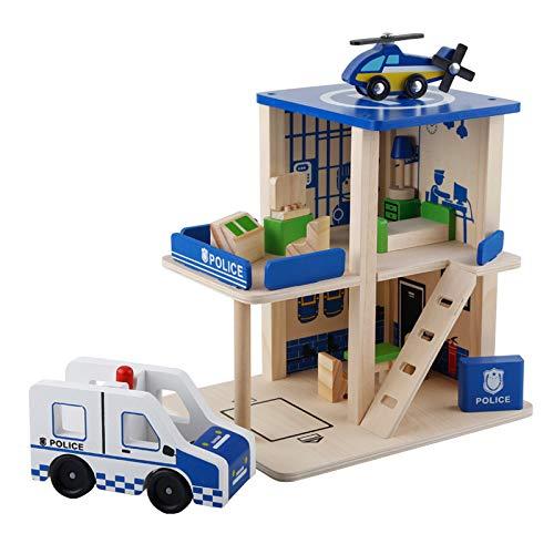 Homyl DIY Puppenhaus/Puppenstube Spielzeug, aus Holz - Polizeistation