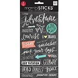 Me & My Big Ideas GVP-57 Stickers Value Pack -Chalk - Tourist
