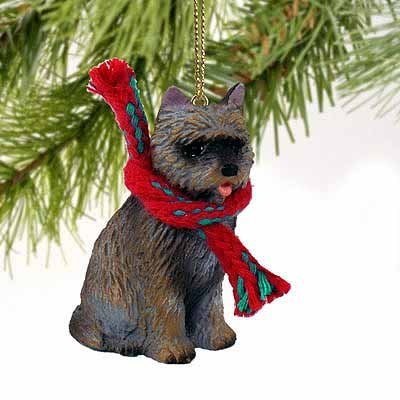 1 X Cairn Terrier Miniature Dog Ornament - Brindle by Conversation Concepts