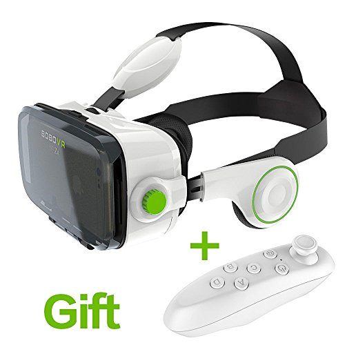 SAVA BOBOVR Z4 3D VR Virtual Reality Headset 3D Glasses with Headphone for 4.0~6.0 Inches IOS Android Smartphones iPhone 6/6 plus, Samsung Galaxy S6 Edge+, Adjustable Focal Distance by SAVA