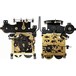Regula 34/44 Cuckoo Wall Clock Mechanism Movement by QWIRLY - Replacement Part for Analog Clocks with Bird Rod, Chains, Stop Rings and Weight Hooks, 8-Day Pendulum Length 28.5 cm / 11.22 inches