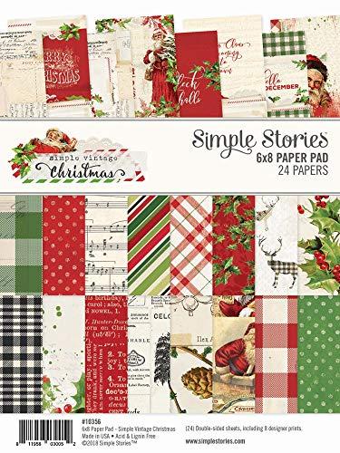Christmas Story Card - Simple Stories Simple Vintage Christmas 6x8 Pad