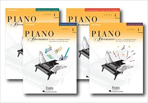 faber piano adventures level 2b learning library pack four book set lesson theory performance and technique artistry books