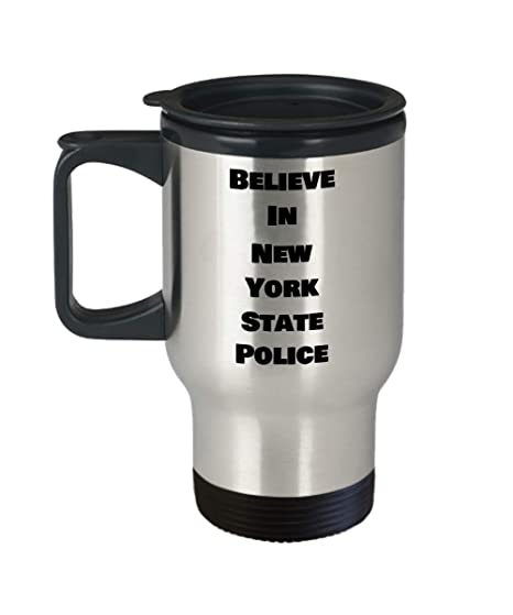 Amazon com: New York State Police Mug Believe Amazing Funny