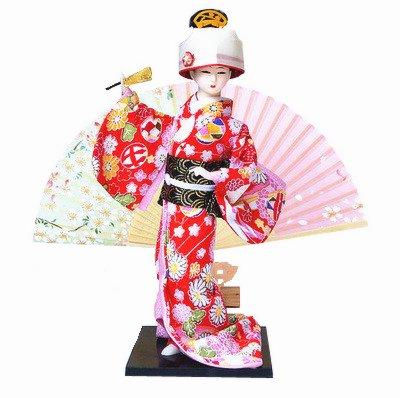 Asian Gifts - Sunkey Japanese Geisha Kimono Doll - 12 Inches(30cm), Asian Geisha Collectible Figurine Decoration or Gift