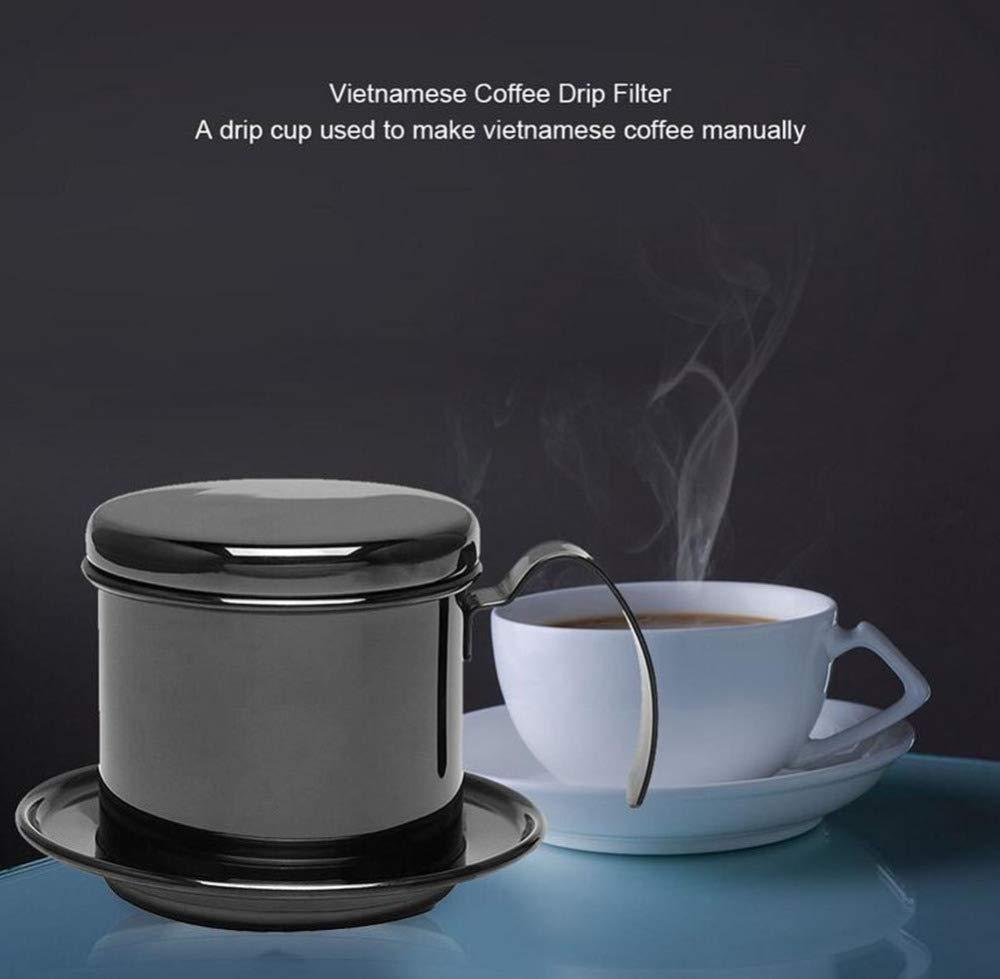AQWWHY Filtro de goteo estilo vietnamita con cafetera portátil de ...