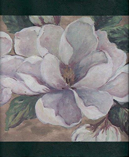 Magnificent Magnolias with Dark Green Trim Wallpaper (Green Trim Wallpaper Border)