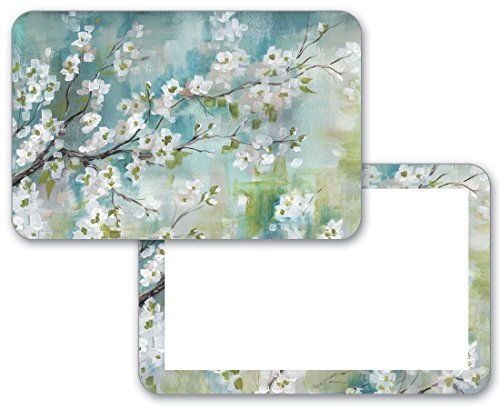 Cherry Placemat (4 Cherry Blossom Flower Reversible Washable Plastic Placemats)