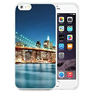 Beautiful Unique Designed iPhone 6 Plus 5.5 Inch Phone Case With New York City Bridge Sunrise_White Phone Case