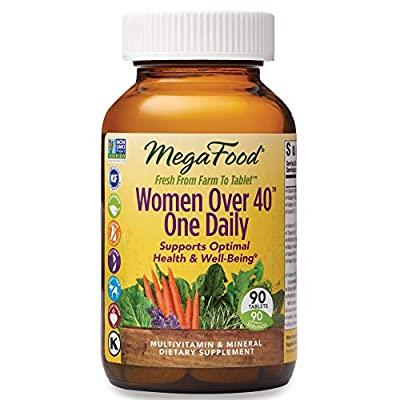 MegaFood - Women Over 40 One Daily, Promotes Immune Health & Well-being, 30 Tablets