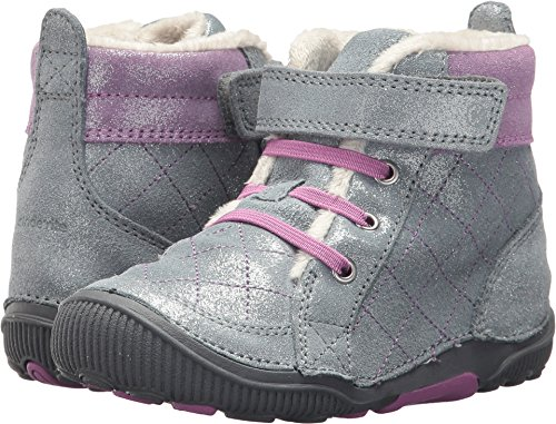 Stride Rite Girls' Srtech Pheobe Ankle Boot, Grey Sparkle, 8.5 M US Toddler by Stride Rite