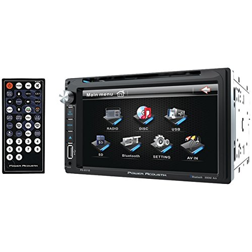 POWER ACOUSTIK PD-651B 6.5'' Double-DIN In-Dash LCD Touchscreen DVD Receiver (With Bluetooth(R))