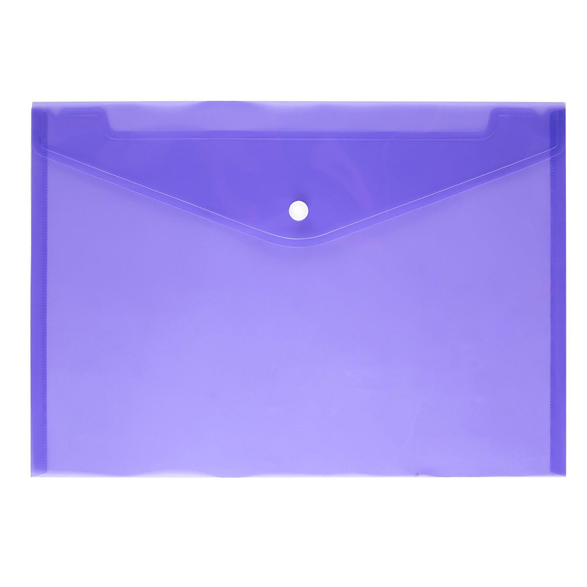 24 Pezzi TOYMYTOY Portadocumenti Buste per documenti in polipropilene A4 trasparente con Bottone