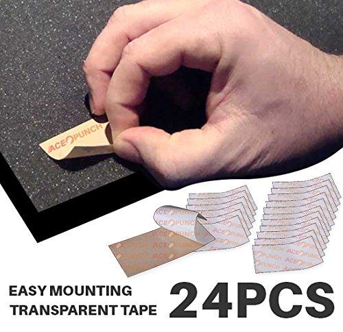 ACE Punch 24Stück DIY Einfach Schnell Sticky doppelseitig klar Hohe Montage Klebeband Taben