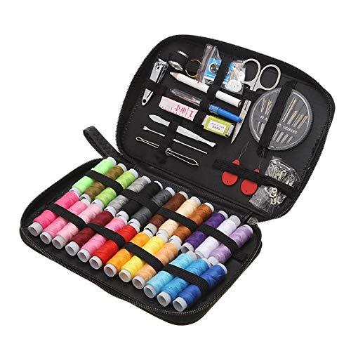 Set Thread - 50pcs Colorful Sewing Threads/24 Colors DIY Box Needle Thread Threader Tape Scissor Storage Bag Set by Ganos by Ganos