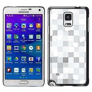 Paccase / SLIM PC / Aliminium Casa Carcasa Funda Case Cover - White squares Pattern - Samsung Galaxy Note 4 SM-N910F SM-N910K SM-N910C SM-N910W8 SM-N910U SM-N910