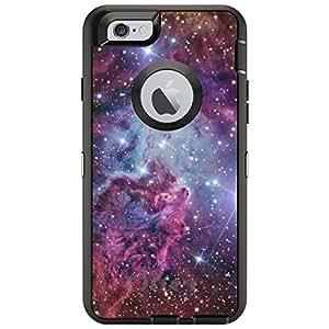 "CUSTOM Black OtterBox Defender Series Case for Apple iPhone 6 PLUS (5.5"" Model) - Pink Purple Blue Fox Fur Nebula"