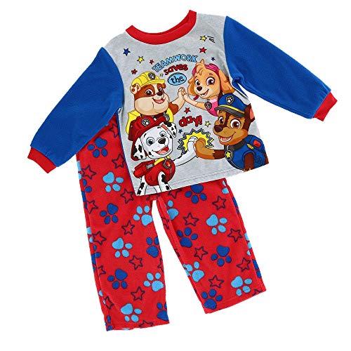 (Nickelodeon Boys' Toddler Paw Patrol 2-Piece Fleece Pajama Set, Nifty Navy, 2T )