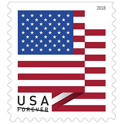 USPS U.S. Flag Forever Stamps - Roll of 100 - 2018 Version (Stamps United Postal)