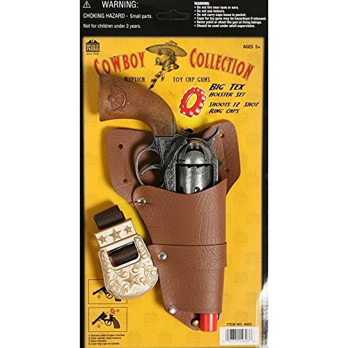 Cowboy Pistol (Big Tex Cowboy Collection Cap Pistol and Holster Set for Cosplay)