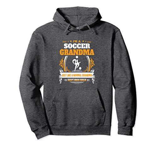 Unisex Funny Soccer Grandma Hoodie for Grandma Large Dark Heather (Soccer Soccer Sweatshirt)