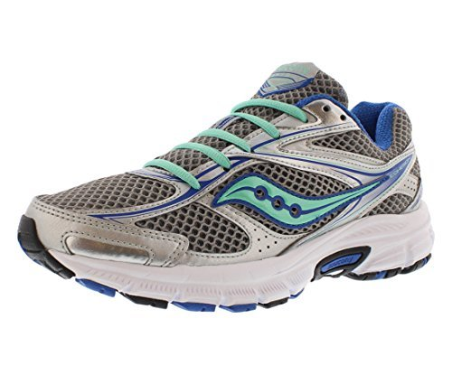 Saucony Grid Cohesion 8 Women's Running Shoe Size US 7, Regular Width, Color Silver/Blue/Mint
