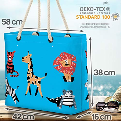VOID djurliv blå strandväska Shopper 58 x 38 x 16 cm 23 L XXL shoppingväska väska resväska Beach Bag