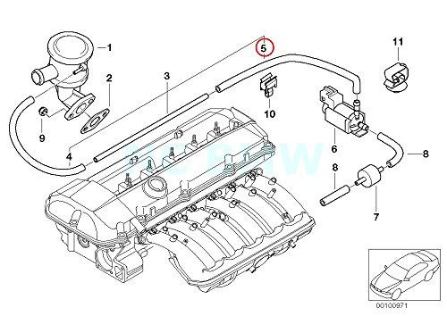 BMW Genuine Vacuum Hose (Vacuum Hose Bmw)