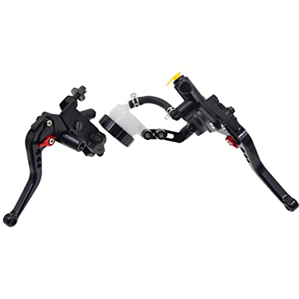 Rzmmotor CNC Motorcycle Brake Master Cylinder Reservoir Clutch Lever Universal Fit For Most Brand 125cc to