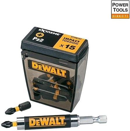Dewalt DT70618T-QZ DT70618T-QZ-Juego de 15 Piezas Impact Torsion guía magnética compacta. Puntas de atornillar de 25 mm: Amazon.es: Bricolaje y herramientas