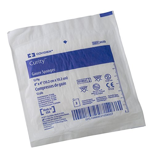 Sterile Gauze Dressing (Covidien 3033 Curity Gauze Sponge, Sterile 2's in Peel-Back Package, 4